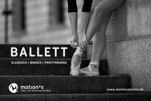 Ballett Unterricht im motions Tanzstudio Berlin