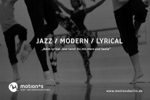 Tanzunterricht in Jazz Modern Lyrical im motion*s Tanz und Bewegungsstudio Berlin