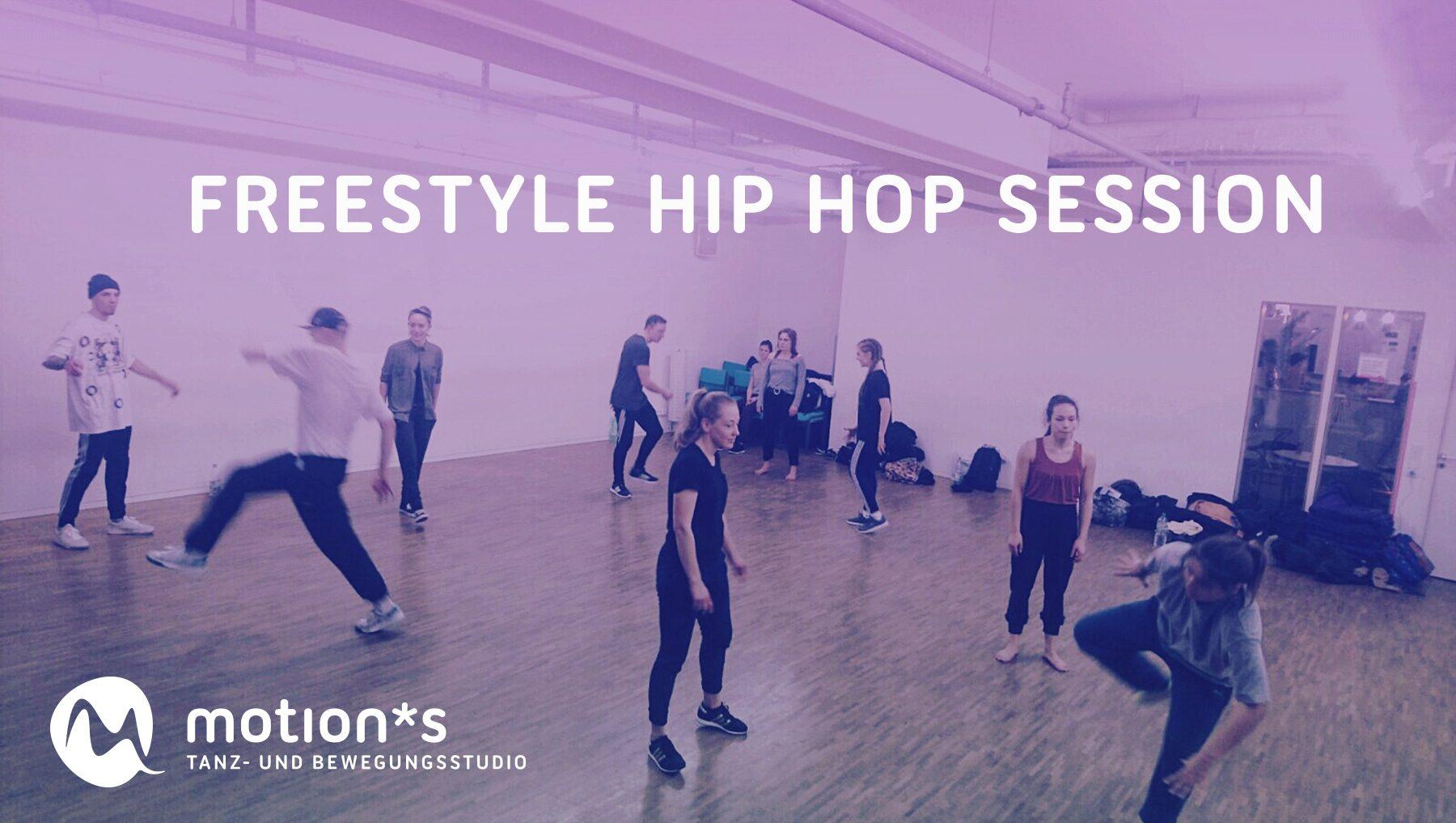 Freestyle Hip Hop Session im motion*s. Organisiert von Lotta und Lucia