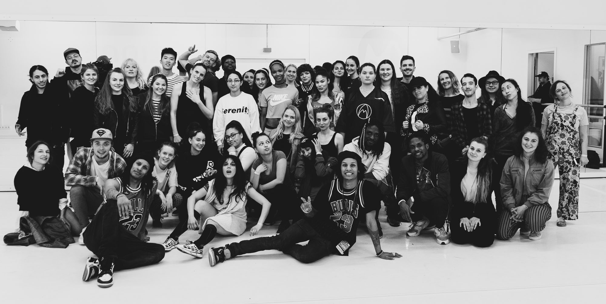 Laurent and Larry of Les Twins with very happy workshop participants at motion*s Tanzstudio Berlin