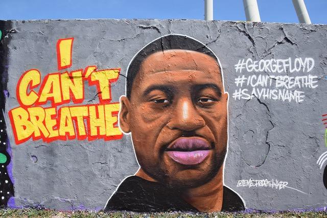I can't breathe Graffiti vom Berliner Mauerpark Mai 2020